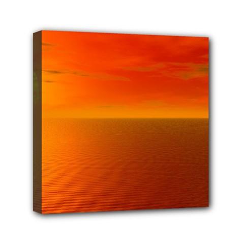 Sunset Mini Canvas 6  x 6  (Framed)