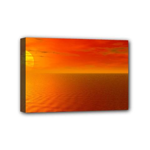 Sunset Mini Canvas 6  x 4  (Framed)