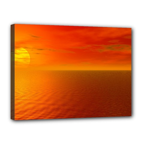 Sunset Canvas 16  X 12  (framed)