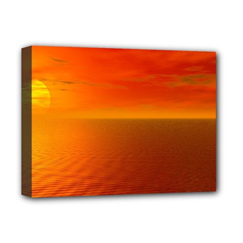 Sunset Deluxe Canvas 16  x 12  (Framed)