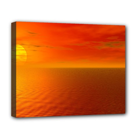 Sunset Deluxe Canvas 20  x 16  (Framed)
