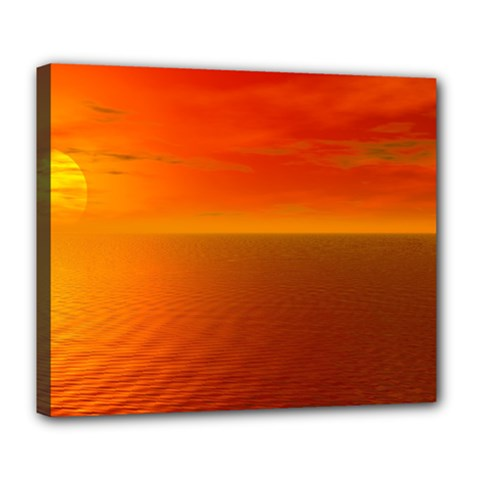 Sunset Deluxe Canvas 24  X 20  (framed)