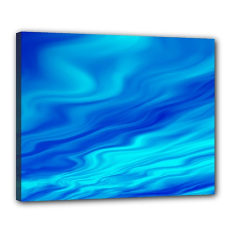 Blue Canvas 20  X 16  (framed)
