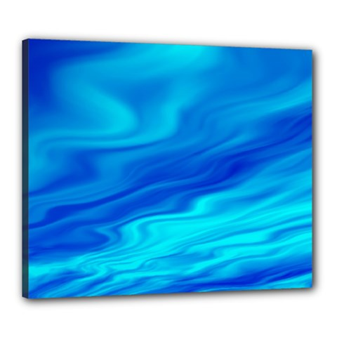 Blue Canvas 24  x 20  (Framed)