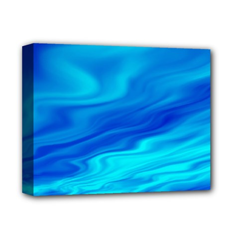 Blue Deluxe Canvas 14  x 11  (Framed)