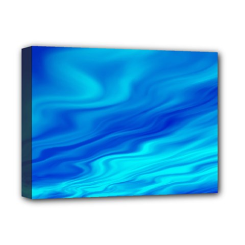 Blue Deluxe Canvas 16  x 12  (Framed)