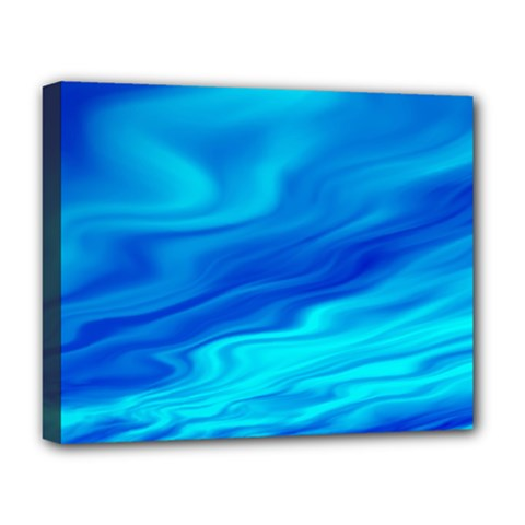 Blue Deluxe Canvas 20  x 16  (Framed)
