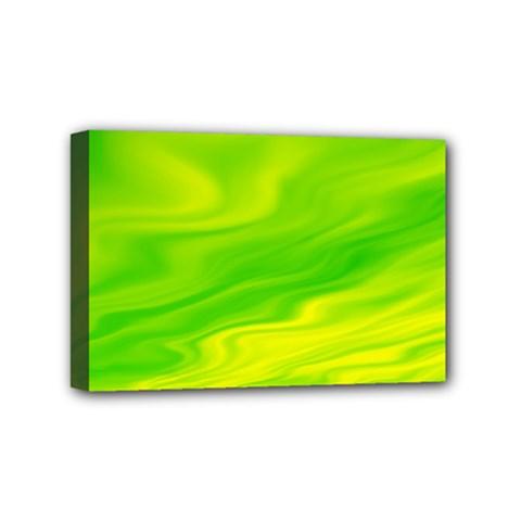 Green Mini Canvas 6  x 4  (Framed)