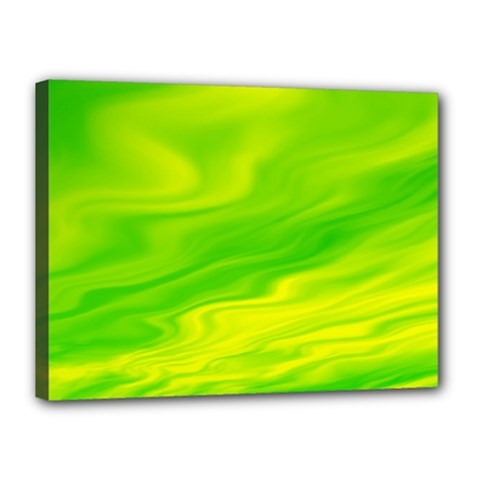 Green Canvas 16  x 12  (Framed)