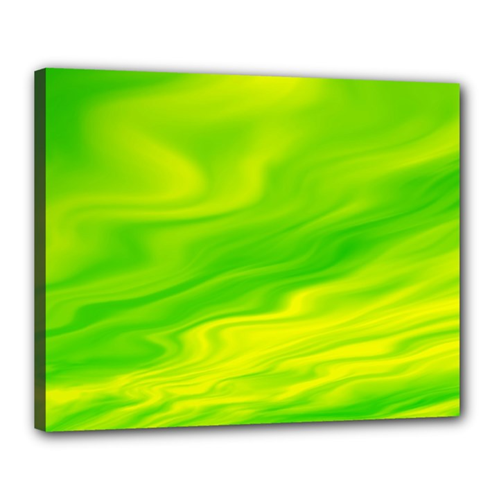 Green Canvas 20  x 16  (Framed)
