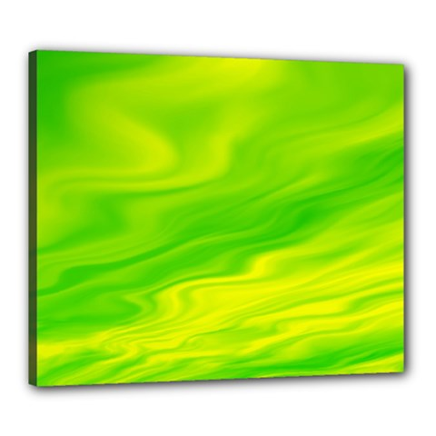 Green Canvas 24  X 20  (framed)