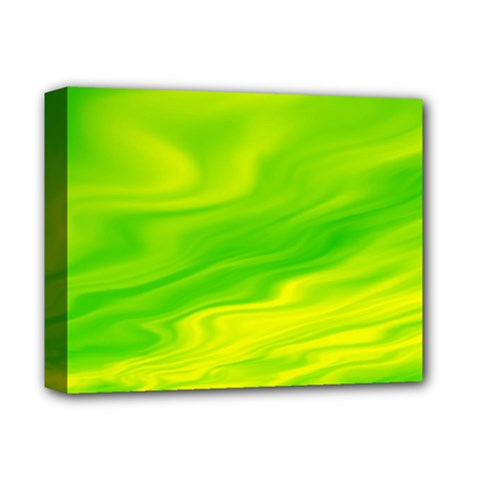 Green Deluxe Canvas 14  x 11  (Framed)