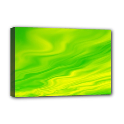 Green Deluxe Canvas 18  x 12  (Framed)