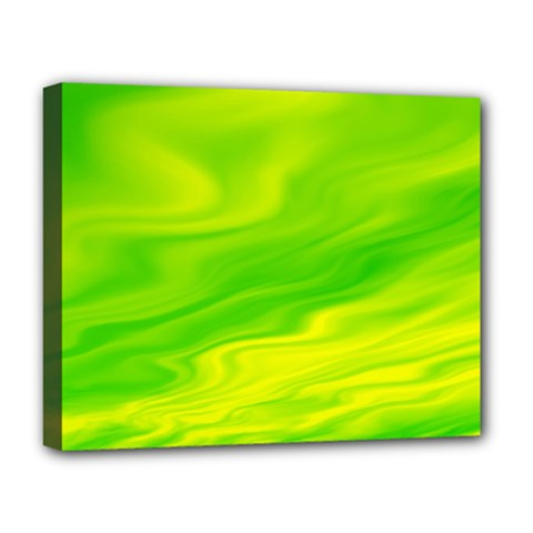Green Deluxe Canvas 20  x 16  (Framed)