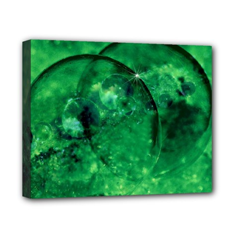 Green Bubbles Canvas 10  X 8  (framed)