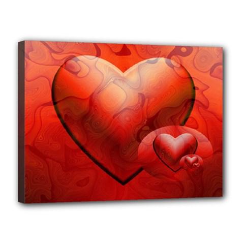 Love Canvas 16  X 12  (framed)