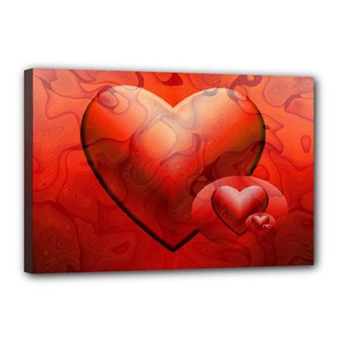 Love Canvas 18  x 12  (Framed)