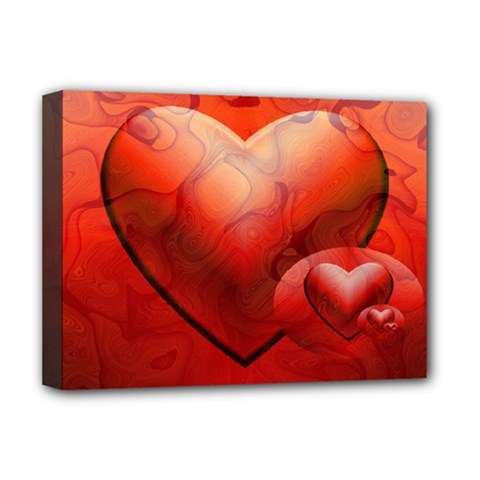 Love Deluxe Canvas 16  X 12  (framed)