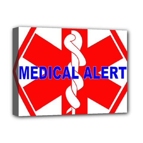 Medical Alert Health Identification Sign Deluxe Canvas 16  X 12  (framed)