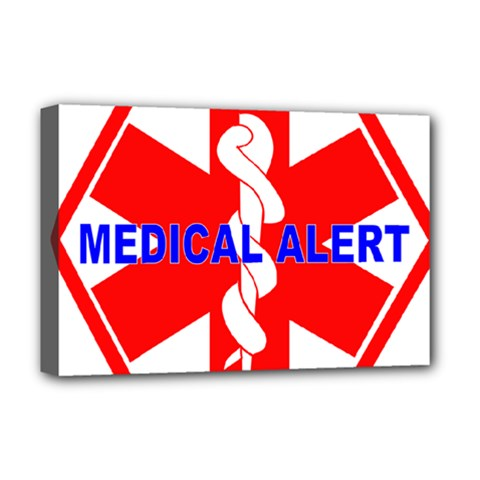 MEDICAL ALERT HEALTH IDENTIFICATION SIGN Deluxe Canvas 18  x 12  (Framed)