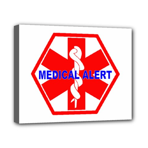 MEDICAL ALERT HEALTH IDENTIFICATION SIGN Canvas 10  x 8  (Framed)