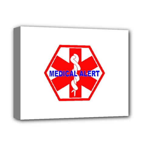MEDICAL ALERT HEALTH IDENTIFICATION SIGN Deluxe Canvas 14  x 11  (Framed)