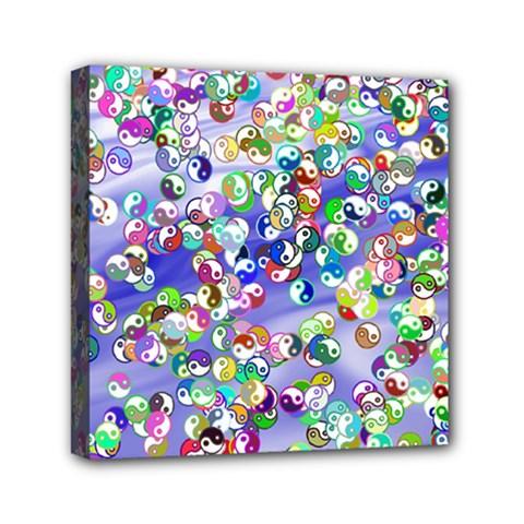 Ying Yang Mini Canvas 6  x 6  (Framed)