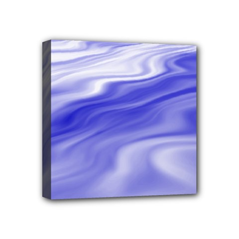 Wave Mini Canvas 4  x 4  (Framed)