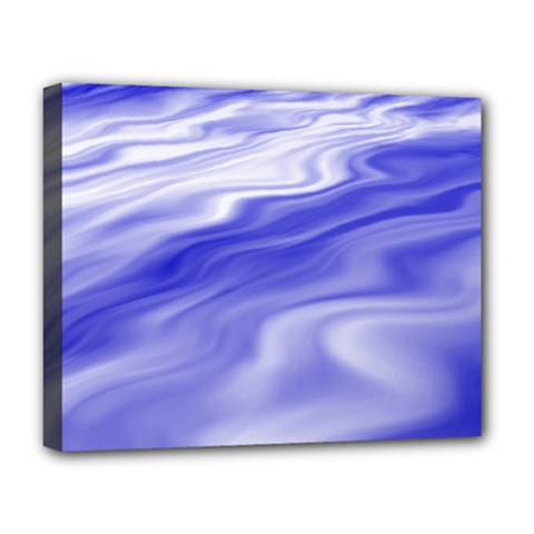 Wave Deluxe Canvas 20  X 16  (framed)