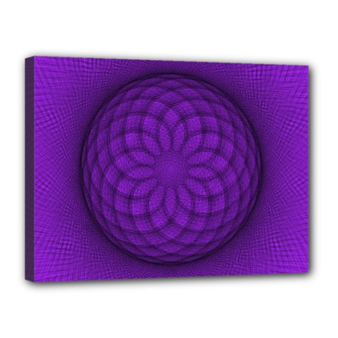 Spirograph Canvas 16  x 12  (Framed)