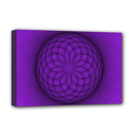 Spirograph Deluxe Canvas 18  x 12  (Framed)