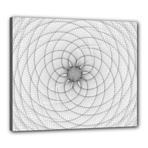 Spirograph Canvas 24  x 20  (Framed)