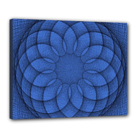 Spirograph Canvas 20  x 16  (Framed)