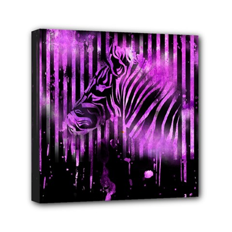 The Hidden Zebra Mini Canvas 6  X 6  (framed)