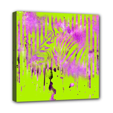The Hidden Zebra Mini Canvas 8  x 8  (Framed)