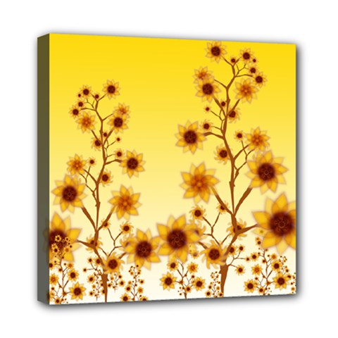 Sunflower Cheers Mini Canvas 8  x 8  (Framed)