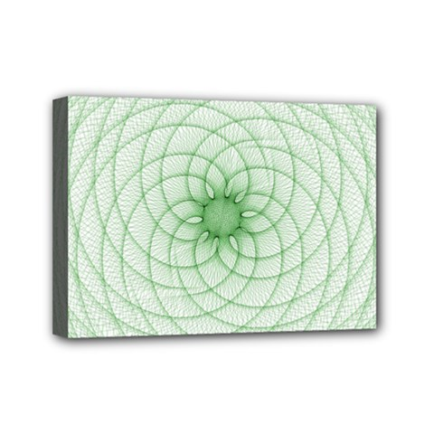 Spirograph Mini Canvas 7  X 5  (framed)