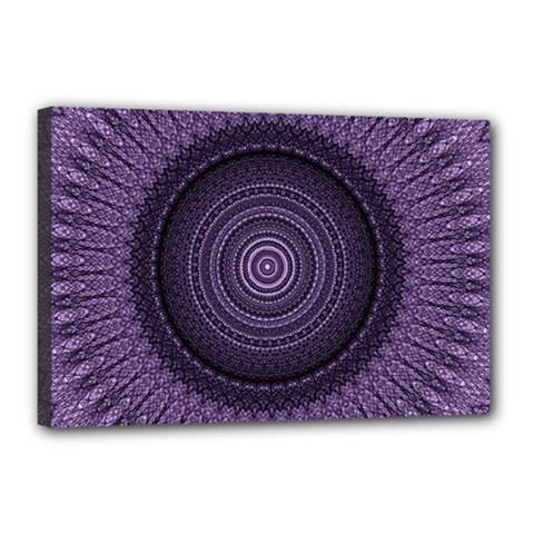 Mandala Canvas 18  x 12  (Framed)