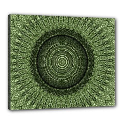 Mandala Canvas 24  X 20  (framed)