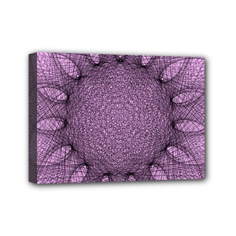 Mandala Mini Canvas 7  x 5  (Framed)