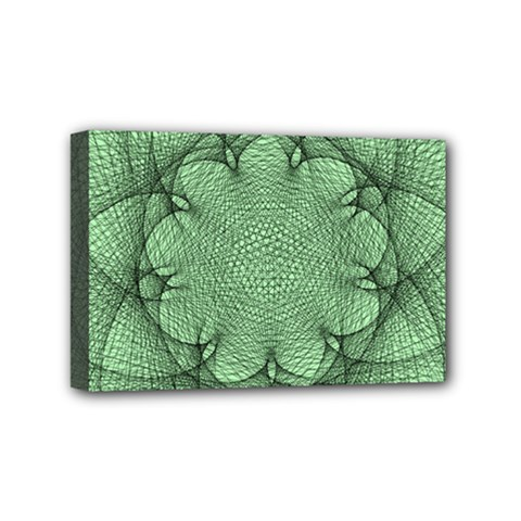 Spirograph Mini Canvas 6  x 4  (Framed)