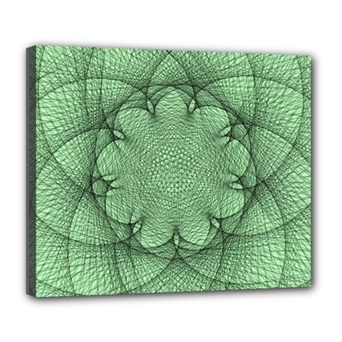 Spirograph Deluxe Canvas 24  X 20  (framed)