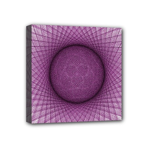 Spirograph Mini Canvas 4  x 4  (Framed)