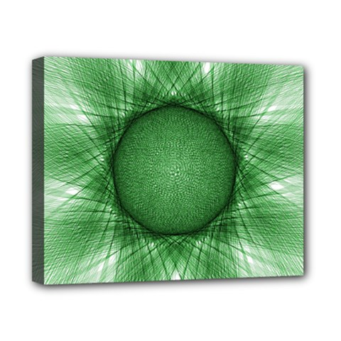 Spirograph Canvas 10  x 8  (Framed)