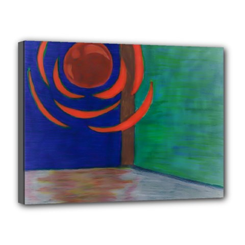 Red Orb Canvas 16  X 12  (framed)