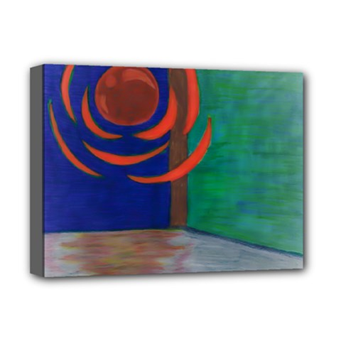 Red Orb Deluxe Canvas 16  X 12  (framed)