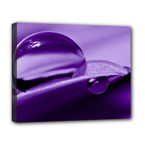 Drops Deluxe Canvas 20  X 16  (framed)