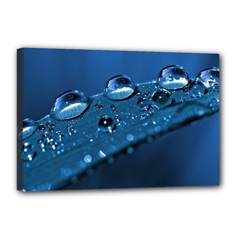 Drops Canvas 18  X 12  (framed)