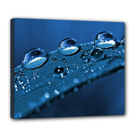 Drops Deluxe Canvas 24  x 20  (Framed)