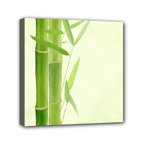 Bamboo Mini Canvas 6  x 6  (Framed)